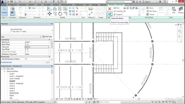 Creating stairs: Revit 2017: Essential Training for Structure