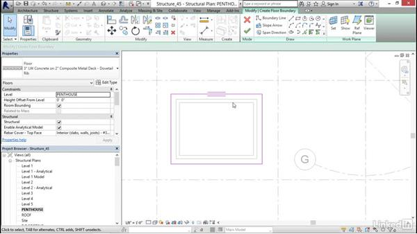 Sloping slabs: Revit 2017: Essential Training for Structure