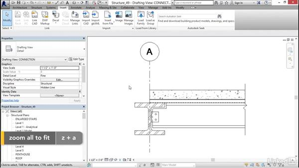 Inserting AutoCAD: Revit 2017: Essential Training for Structure