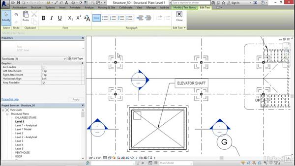 Adding text: Revit 2017: Essential Training for Structure