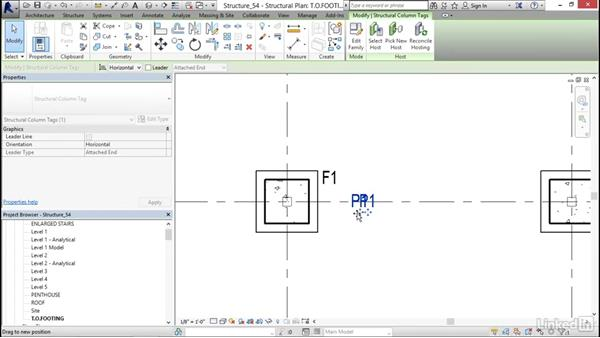 Creating a pier and footing tags: Revit 2017: Essential Training for Structure