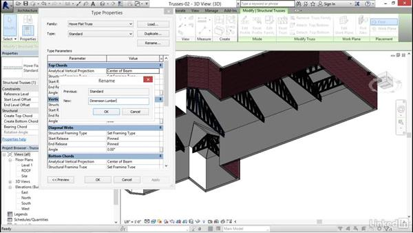 Changing truss materials: Revit 2017: Essential Training for Structure