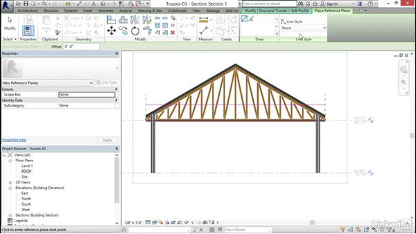 Editingthe truss bottom chord: Revit 2017: Essential Training for Structure