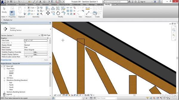 Detailing trusses: Revit 2017: Essential Training for Structure