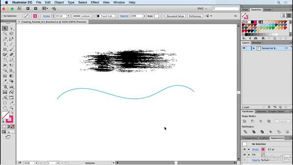 Creating painted art brushes: Drawing Vector Graphics: Painting with Vectors