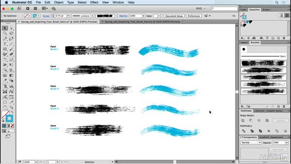 Saving and importing your brush sets: Drawing Vector Graphics: Painting with Vectors