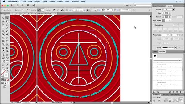 Applying linework brushes: Drawing Vector Graphics: Painting with Vectors