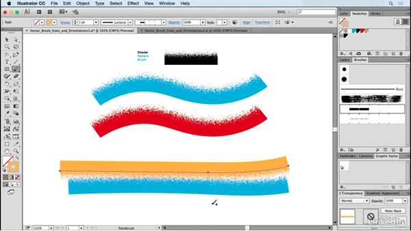 Vector brush sizes and orientations: Drawing Vector Graphics: Painting with Vectors