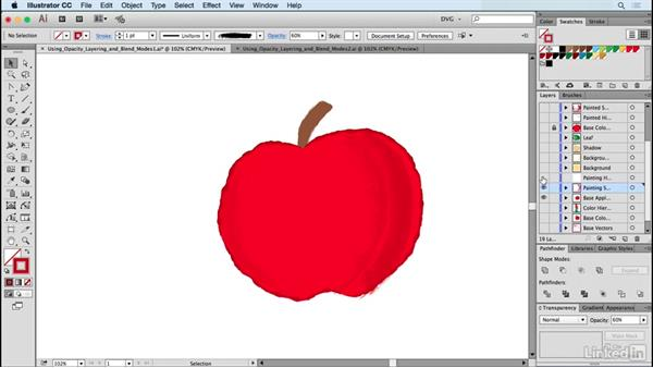 Using opacity, layering, and blend modes: Drawing Vector Graphics: Painting with Vectors