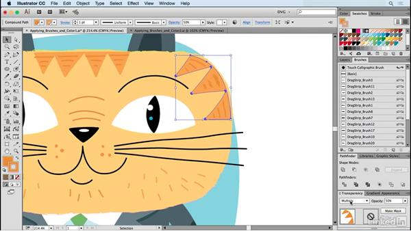 Applying brushes and color: Drawing Vector Graphics: Painting with Vectors