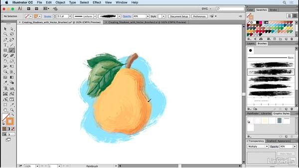 Creating shadows with vector brushes: Drawing Vector Graphics: Painting with Vectors