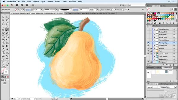 Creating highlights with vector brushes: Drawing Vector Graphics: Painting with Vectors