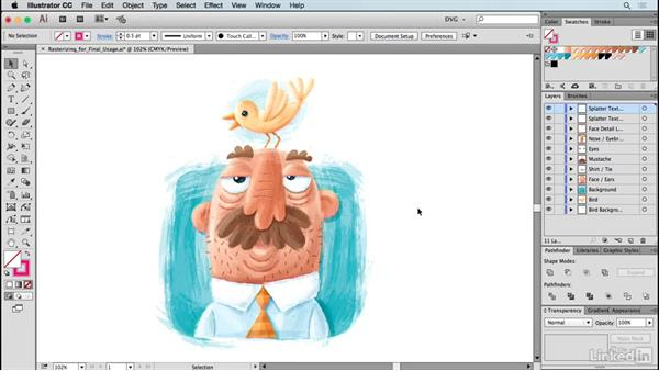 Rasterizing for final usage: Drawing Vector Graphics: Painting with Vectors