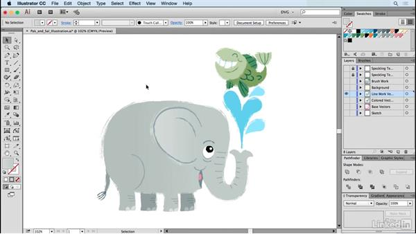 Pak and Sal illustration: Drawing Vector Graphics: Painting with Vectors