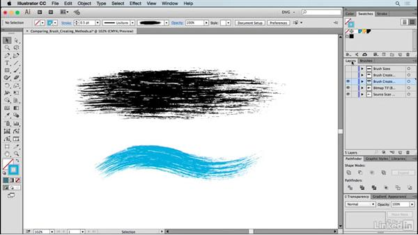 Comparing brush-creating methods: Drawing Vector Graphics: Painting with Vectors