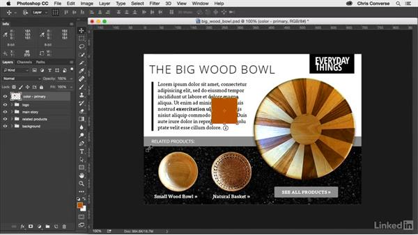 Creating SmartObject color swatches: Design the Web: Control Colors in Photoshop with SmartObjects