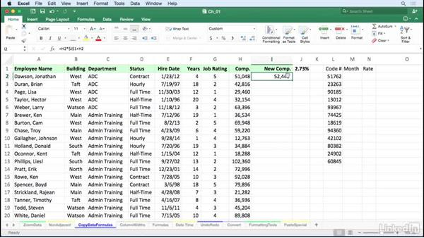Copy data or formulas down a column instantly: Excel for Mac 2016 Tips and Tricks
