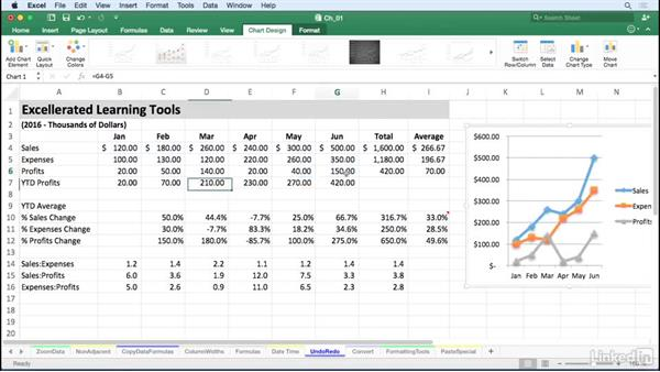 Undo, redo, and repeat recent actions with keystrokes: Excel for Mac 2016 Tips and Tricks