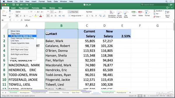 Convert formulas to values with a simple right-drag: Excel for Mac 2016 Tips and Tricks