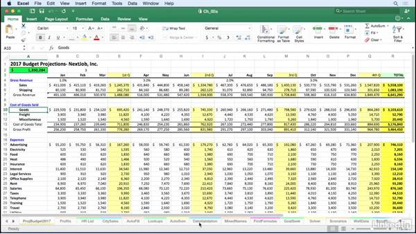 Navigate between worksheets efficiently: Excel for Mac 2016 Tips and Tricks