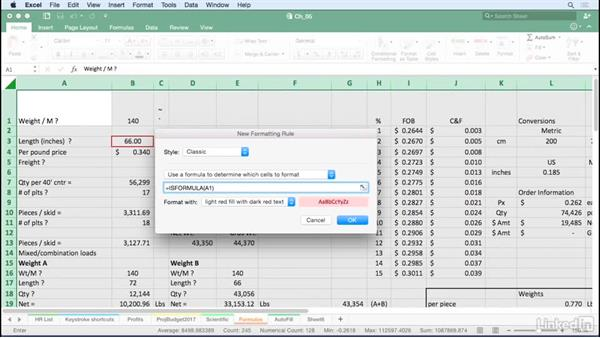 Use Conditional Formatting to highlight formula cells only: Excel for Mac 2016 Tips and Tricks