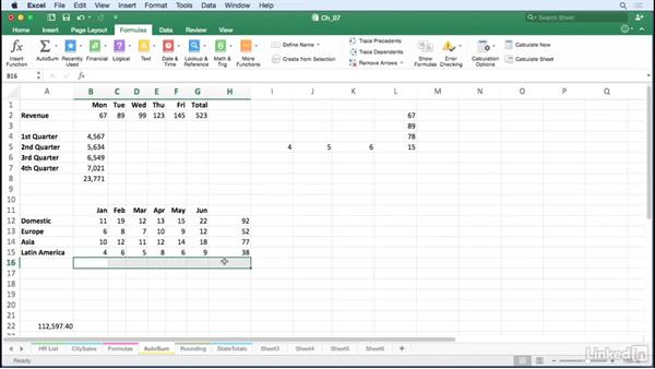 Use AutoSum shortcuts: Excel for Mac 2016 Tips and Tricks