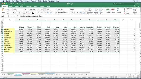 Generate random numbers: Excel for Mac 2016 Tips and Tricks