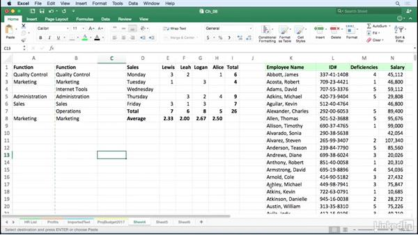 Select and manipulate blank cells: Excel for Mac 2016 Tips and Tricks