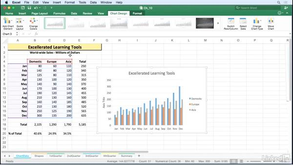 Create chart titles from cell content: Excel for Mac 2016 Tips and Tricks
