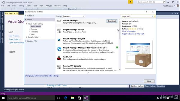 Install NuGet in Visual Studio 2015: Windows Package Management with NuGet and Chocolatey