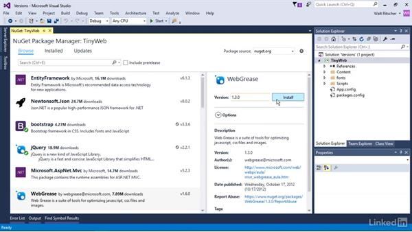 Work with alternate versions of packages: Windows Package Management with NuGet and Chocolatey