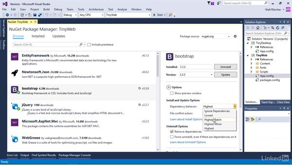 Change version settings: Windows Package Management with NuGet and Chocolatey