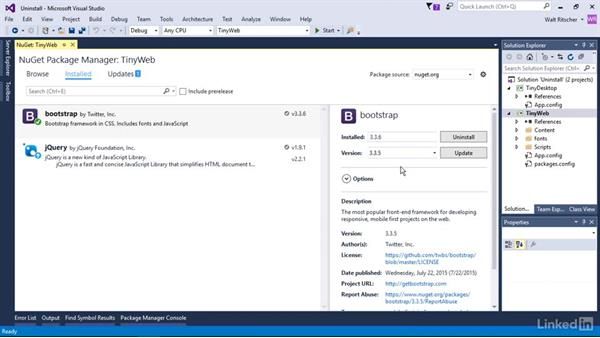 Uninstall a package: Windows Package Management with NuGet and Chocolatey