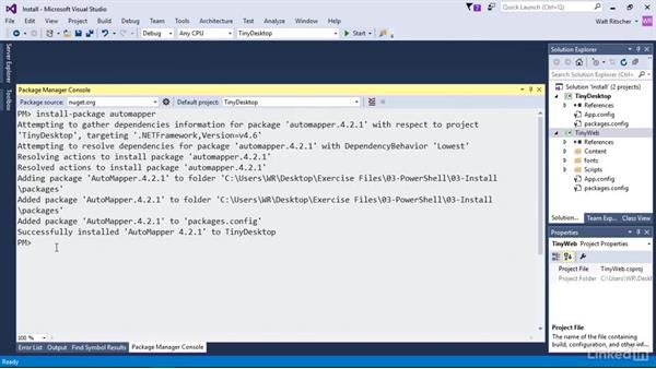 Use the command line to install packages: Windows Package Management with NuGet and Chocolatey