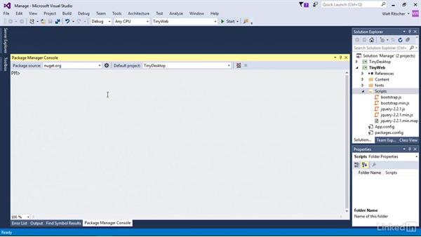 Use the command line with other NugGet commands: Windows Package Management with NuGet and Chocolatey