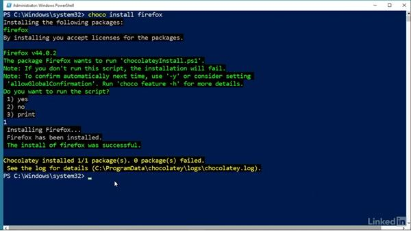 Use Chocolatey to install applications: Windows Package Management with NuGet and Chocolatey