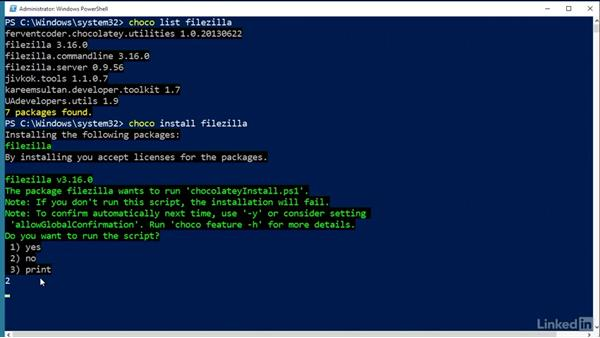 Work with versions: Windows Package Management with NuGet and Chocolatey