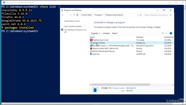 Use Chocolatey to uninstall applications: Windows Package Management with NuGet and Chocolatey
