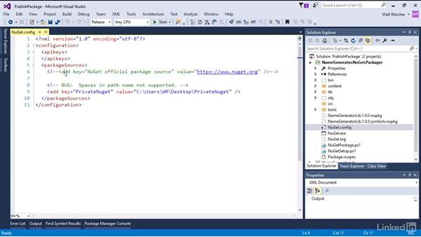 Publish the custom NuGet package: Windows Package Management with NuGet and Chocolatey