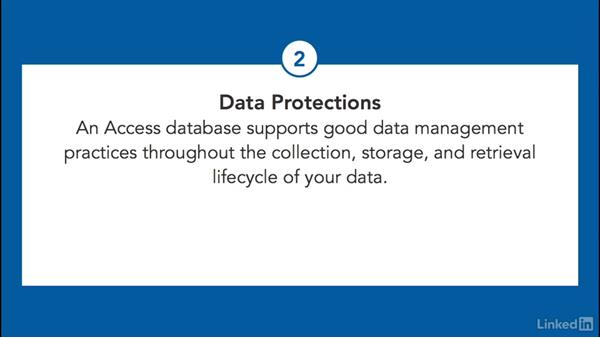 Why use an Access database: Learn Access 2016: The Basics