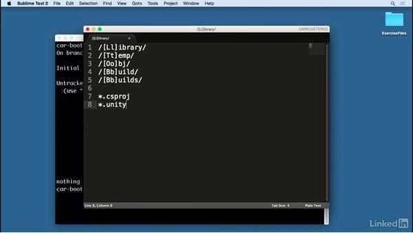 Create a  gitignore file