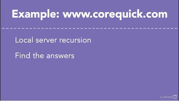 Recursion: Managing DNS Essential Training