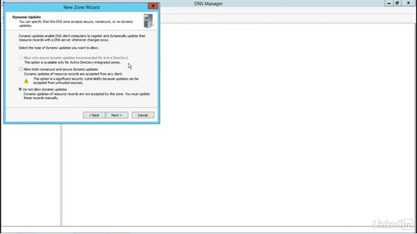 Windows Server 2012: DNS zone setup: Managing DNS Essential Training