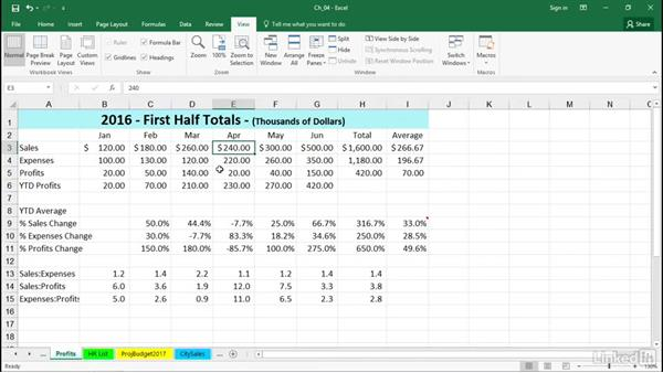 Navigate between workbooks efficiently: Excel 2016 Tips and Tricks
