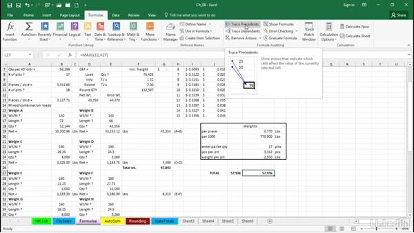 Select all cells that can affect the active cell: Excel 2016 Tips and Tricks