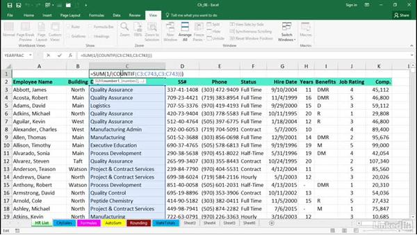 Count the number of unique entries: Excel 2016 Tips and Tricks