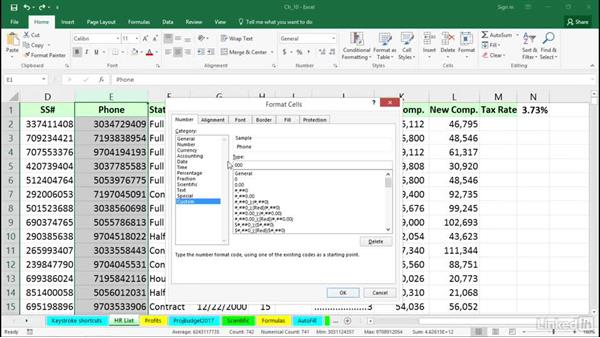Create custom formats: Dot leaders and more: Excel 2016 Tips and Tricks