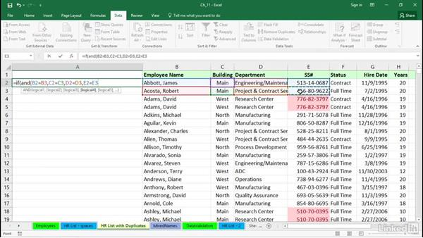 Identify and eliminate duplicates: Excel 2016 Tips and Tricks