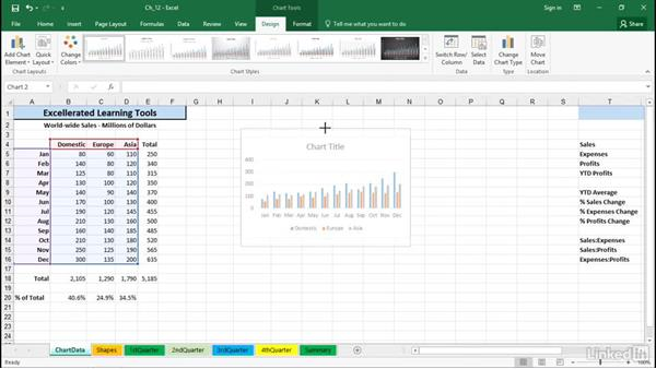 Manipulate chart placement with dragging techniques: Excel 2016 Tips and Tricks