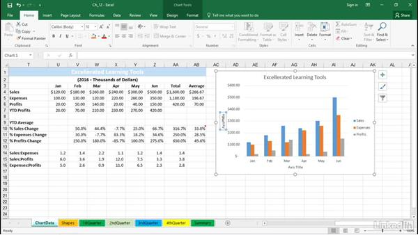 Create chart titles from cell content: Excel 2016 Tips and Tricks